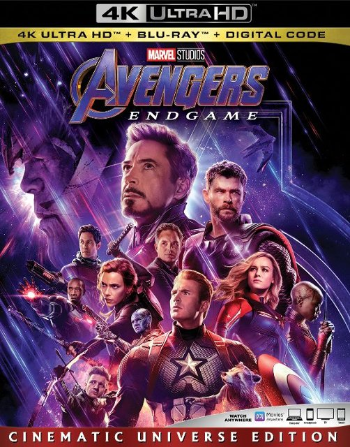 """Avengers: Endgame"" 4k Blu-ray Cinematic Universe Edition"