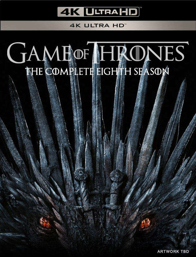 Game of Thrones: Season 8 Blu-ray / DVD Packaging & Release