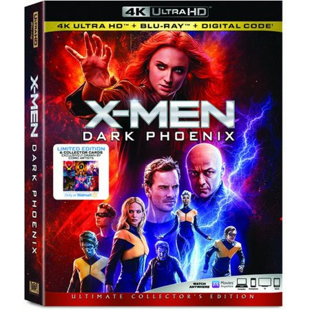 """X-Men Dark Phoenix"" 4k Blu-ray Walmart Exclusive w/Collector Cards"