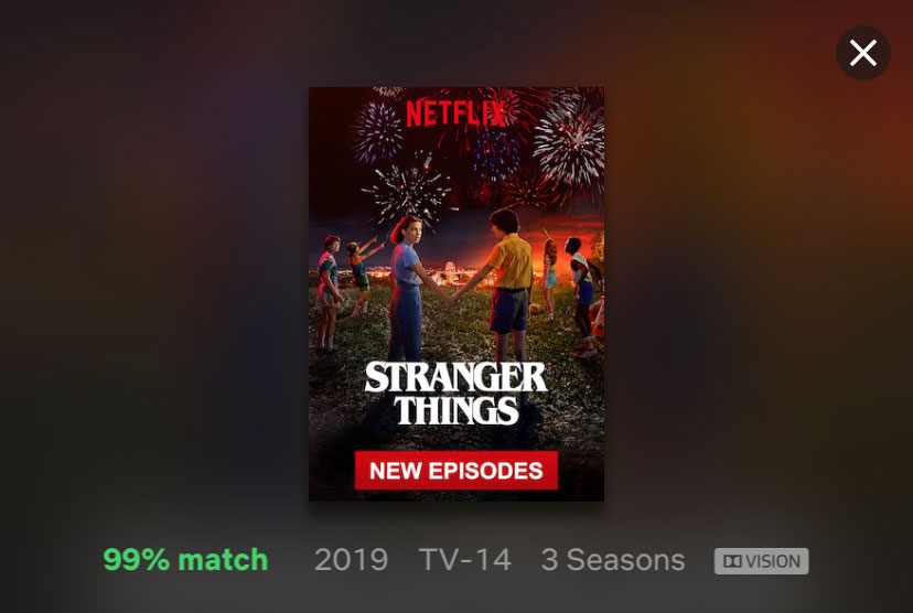 "Netflix's ""Stranger Things"" in Dolby Vision on iPhone XR"