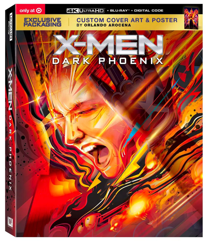"""X-Men Dark Phoenix"" 4k Blu-ray Target Exclusive Packaging"