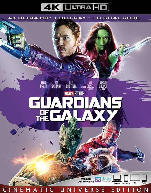 Guardians of the Galaxy 4k Blu-ray Front