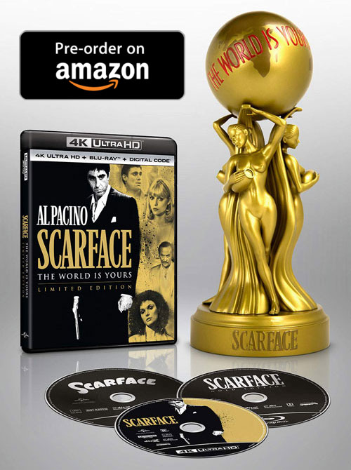 Scarface 4k Blu-ray Limited Edition with Collectible Statue