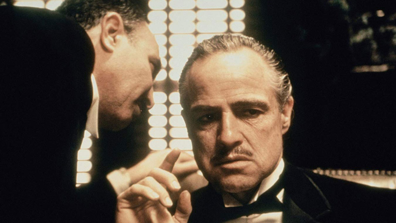 The Godfather (1972) starring Marlon Brando and Salvatore Corsitto