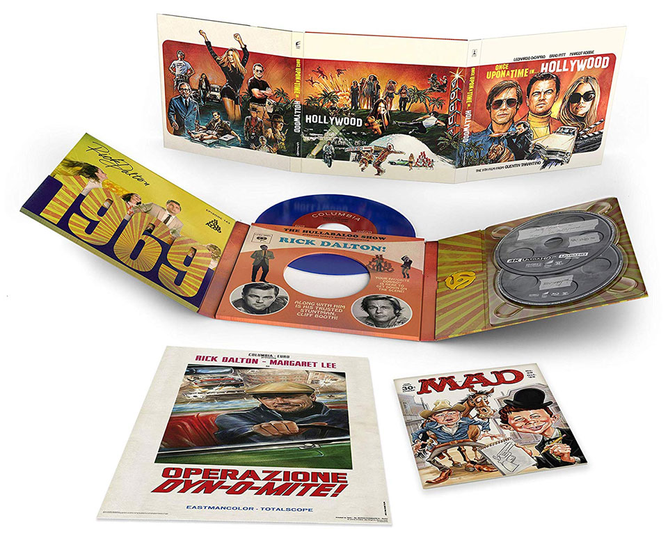 Once Upon a Time in Hollywood Collectors Edition open