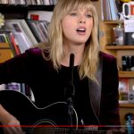 Taylor Swift performs for NPR Music Tiny Desk Concert series