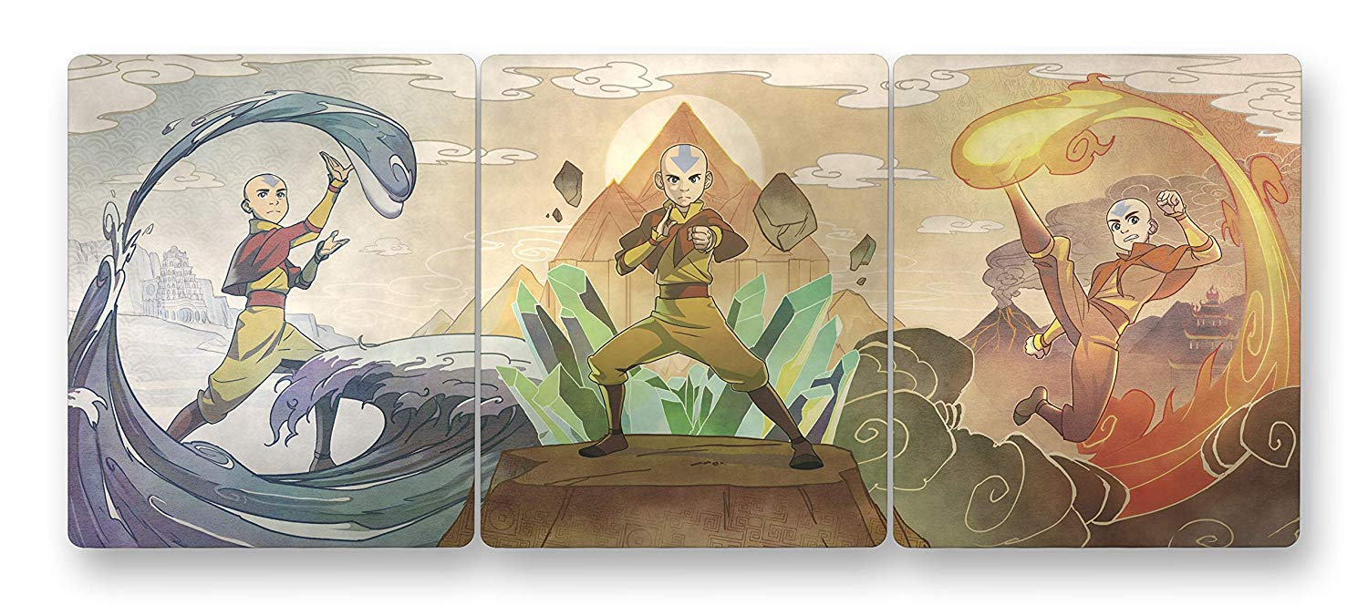 Avatar- The Last Airbender The Complete Series Blu-ray SteelBook inside