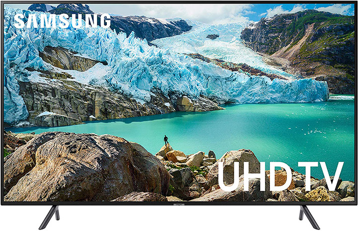 Samsung UN55RU7100FXZA Flat 55-Inch 4K UHD 7 Series Ultra HD Smart TV with HDR and Alexa Compatibility
