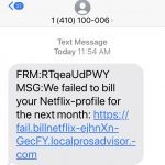 Netflix Text Message Scam Claims Your Billing Failed