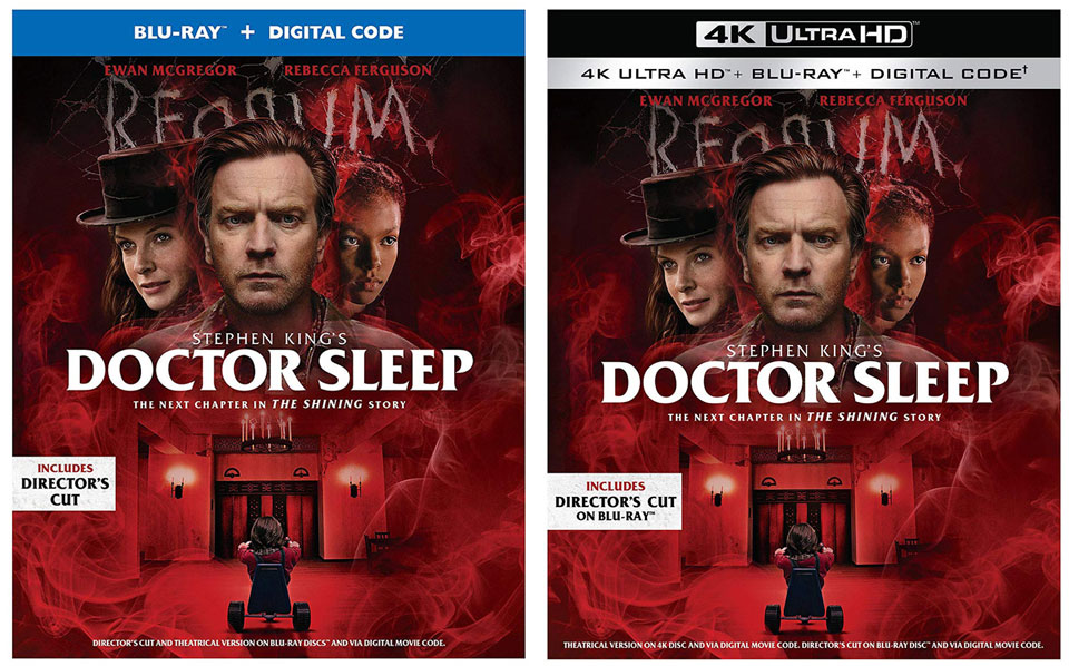 Doctor Sleep Blu-ray 4k Blu-ray 2up