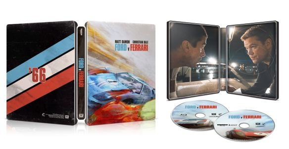 Ford v Ferrari 4k Blu-ray SteelBook open