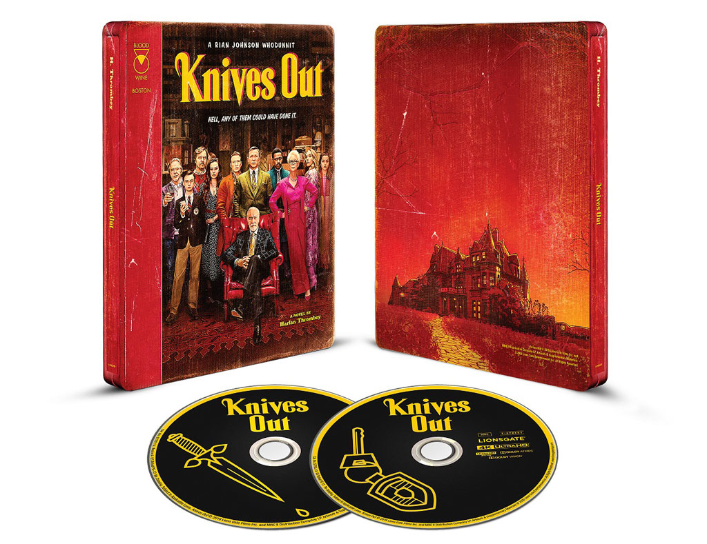 Knives Out 4k Blu-ray SteelBook