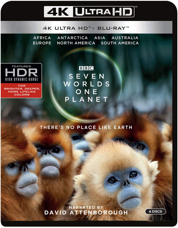 Seven Worlds One Planet 4k Blu-ray