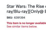 'Star Wars: The Rise of Skywalker' 4k SteelBook already sold out at Best Buy