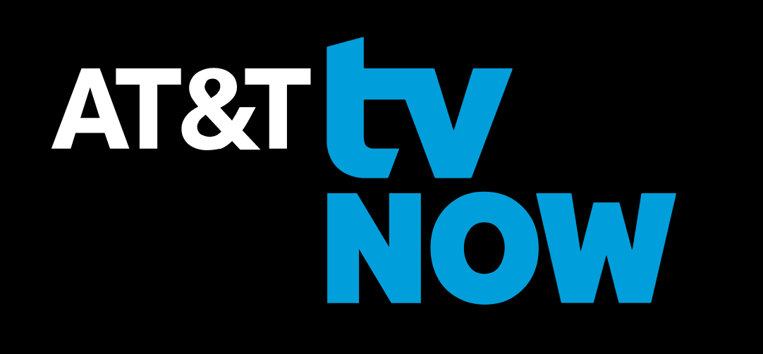 at&t tv now logo on black