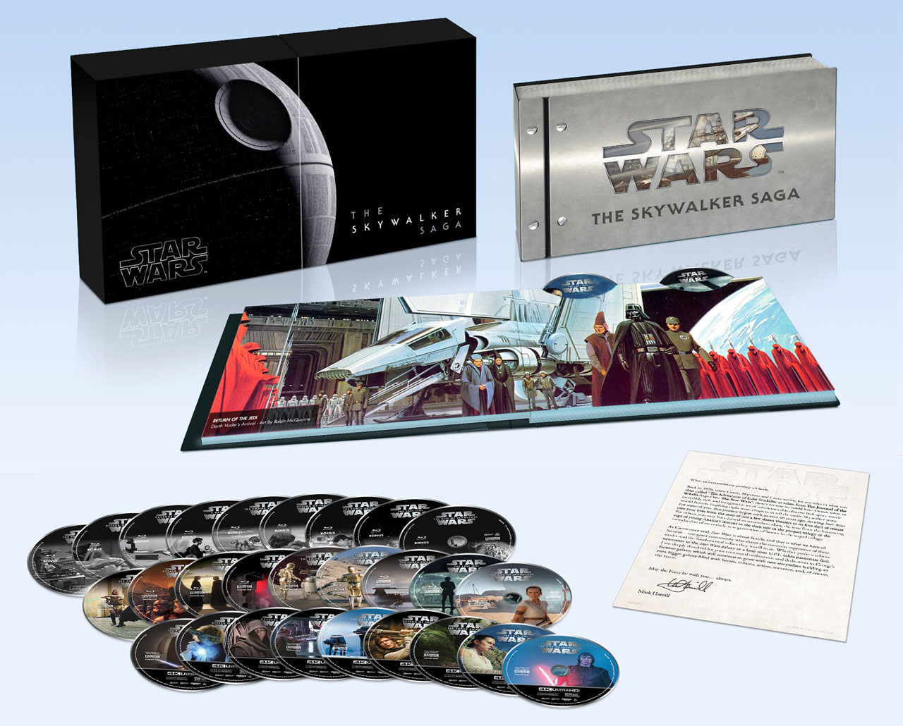 star wars the skywalker saga 4k blu-ray collection open