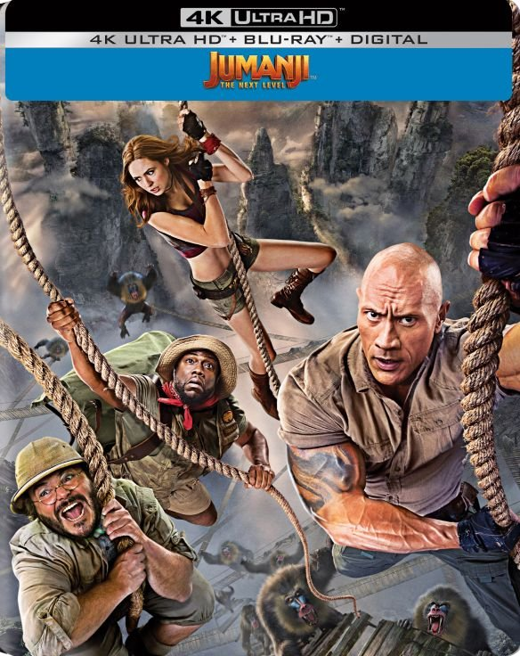 Jumanji- The Next Level 4k BD SteelBook