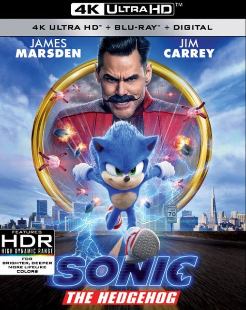 Sonic the Hedgehog 4k Blu-ray