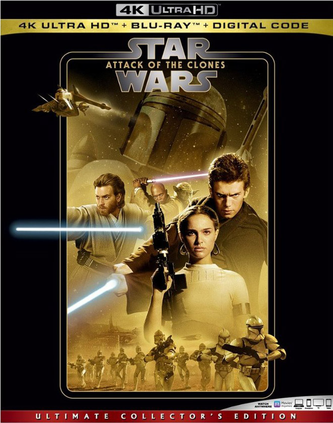 Star Wars- Attack of the Clones 4k Blu-ray