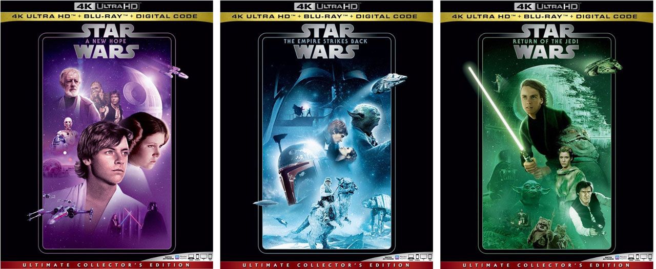 Star Wars Films Releasing To Single 4k Blu Ray Editions Hd Report