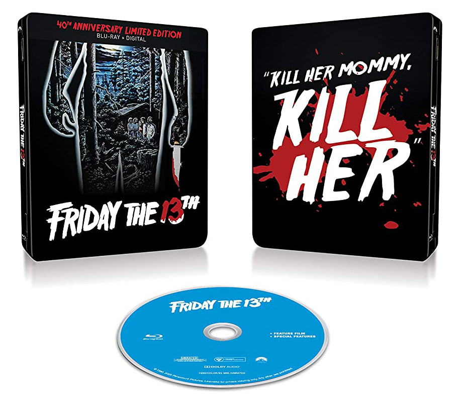 Friday the 13th Blu-ray SteelBook open