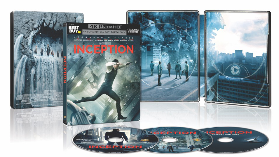Inception 4k Blu-ray Steelbook open lrg