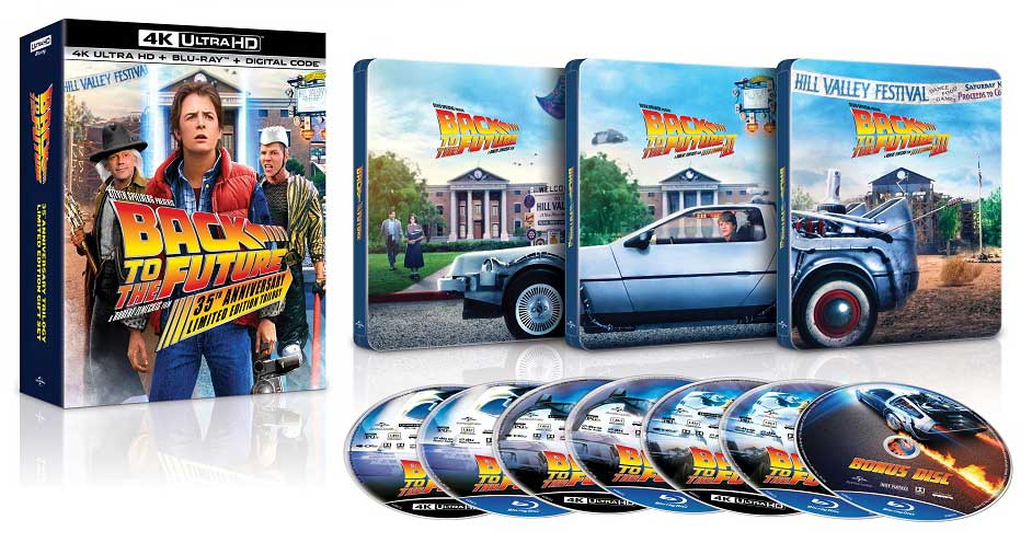 Back to the Future 35th Anniversary Trilogy 4k SteelBook