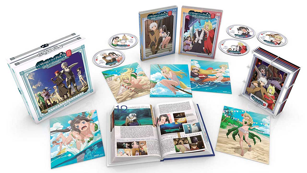 Is It Wrong To Try To Pick Up Girls In A Dungeon Blu-ray Set Open