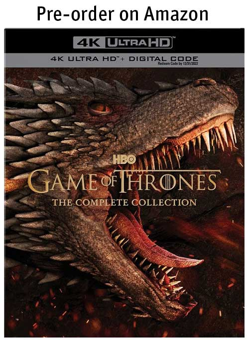 Game of Thrones: The Complete Series 4k Blu-ray