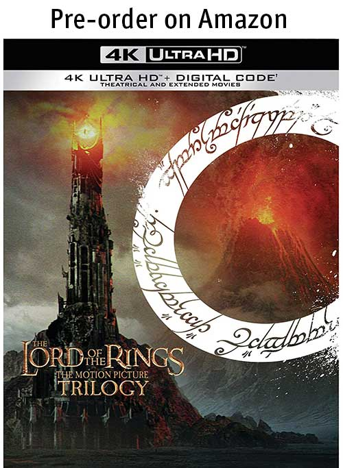 The Lord of the Rings: The Motion Picture Trilogy 4k Blu-ray