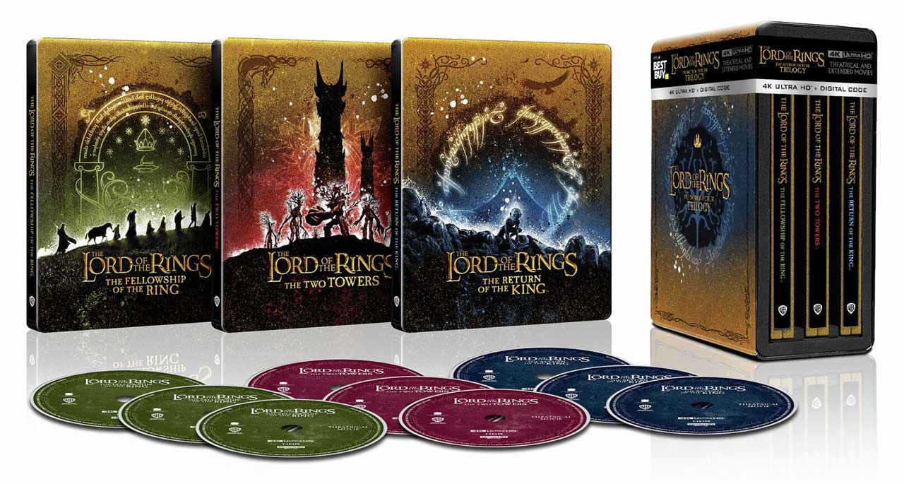 The Lord of the Rings The Motion Picture Trilogy 4k Blu-ray Best Buy SteelBook