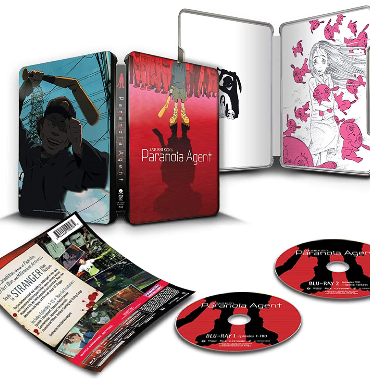 Paranoia Agent Blu-ray SteelBook open