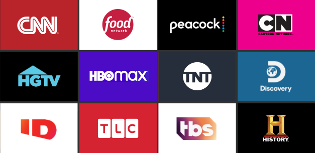 streaming channels grid