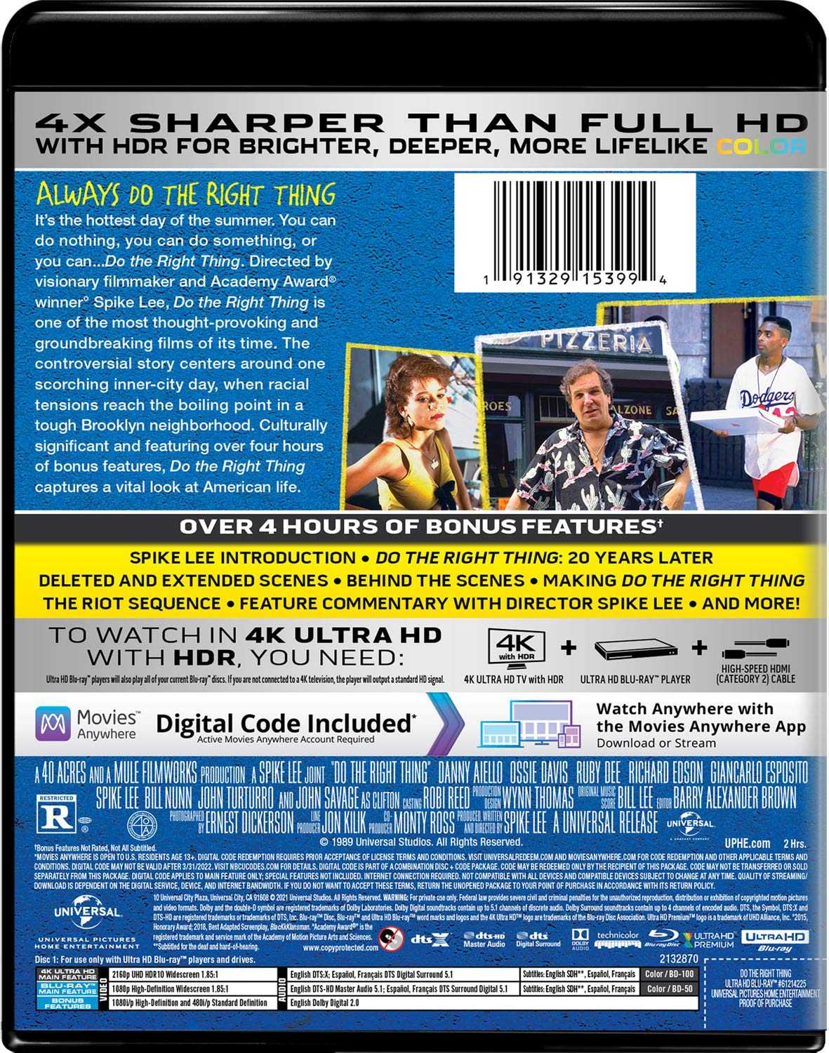 Do the Right Thing 4k Blu-ray back