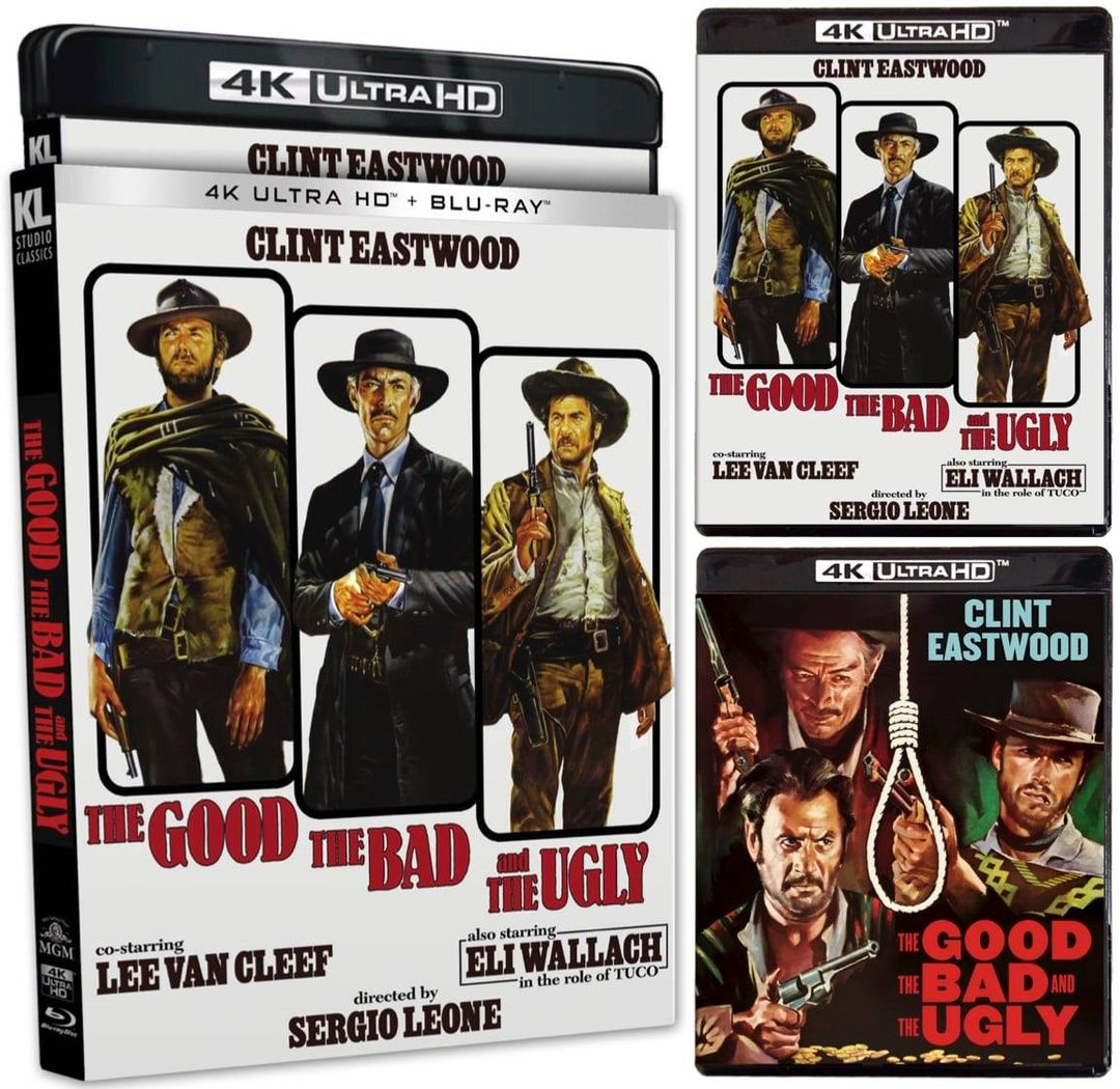 The Good the Bad and the Ugly 4k Blu-ray collage
