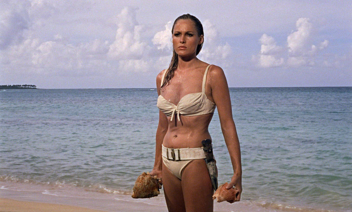 Ursula Andress stars as Honey Ryder in Dr. No