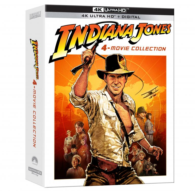 Indiana Jones 4-Movie Collection 4k Blu-ray angle