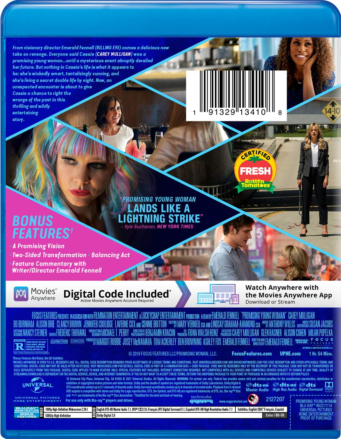 Promising Young Woman Blu-ray back