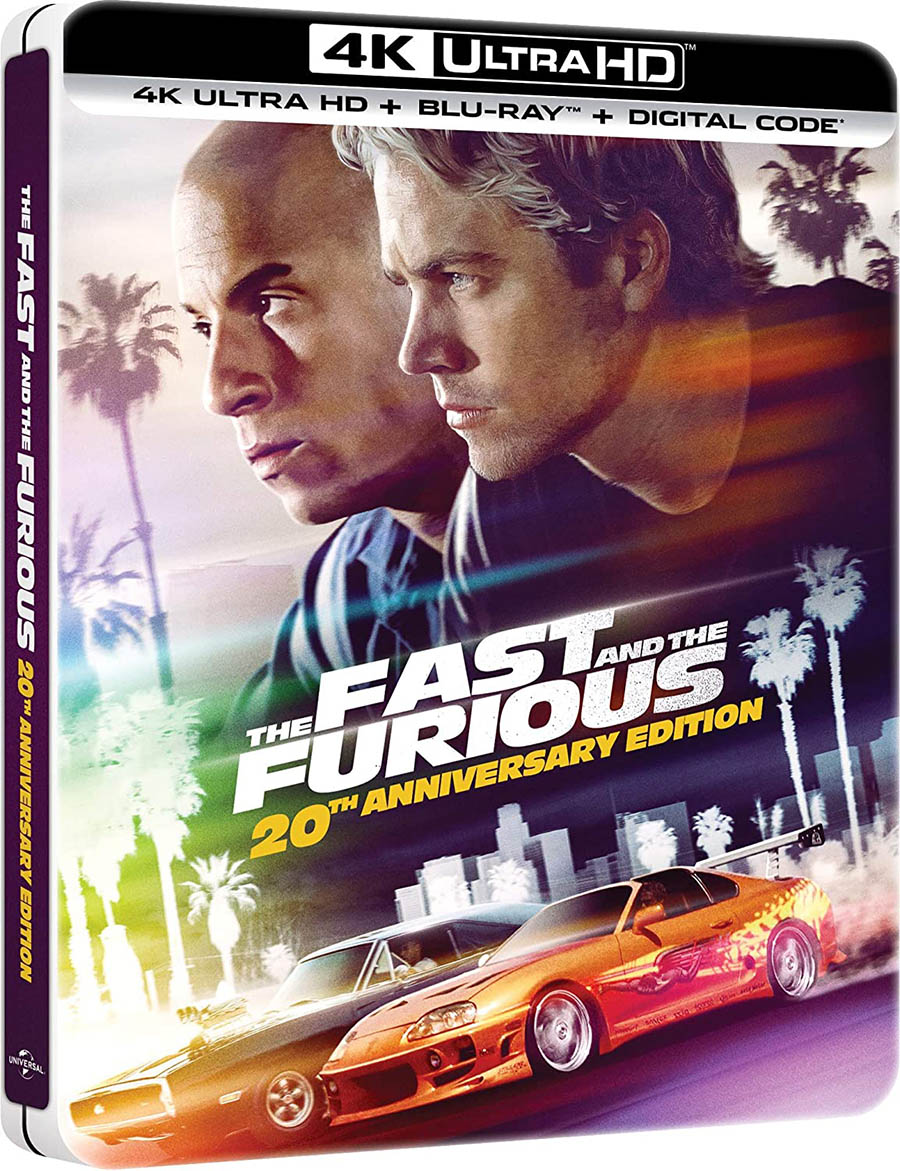 The Fast and the Furious 4k Blu-ray SteelBook angle