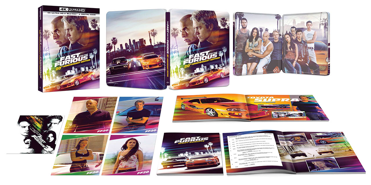 The Fast and the Furious 4k SteelBook open