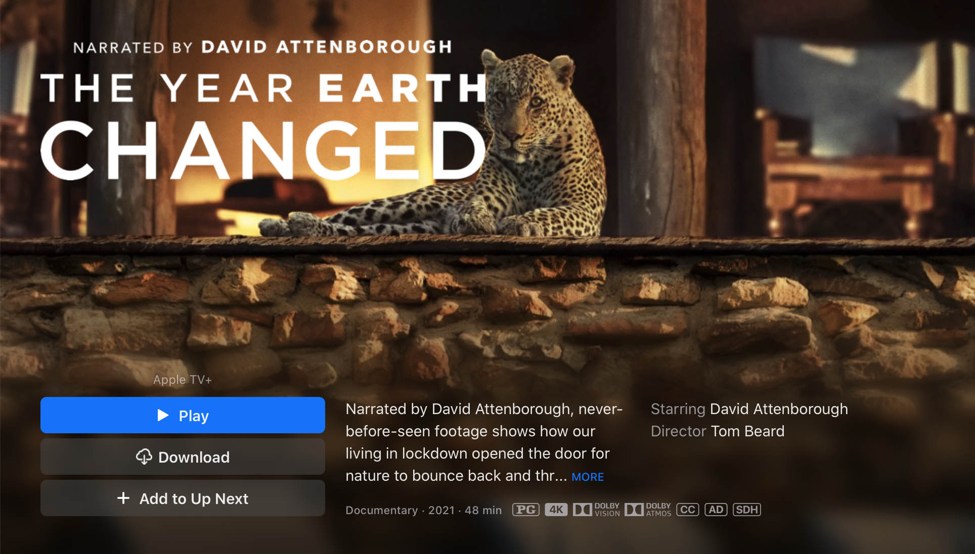 the year earth changed apple tv 4k dolby vision