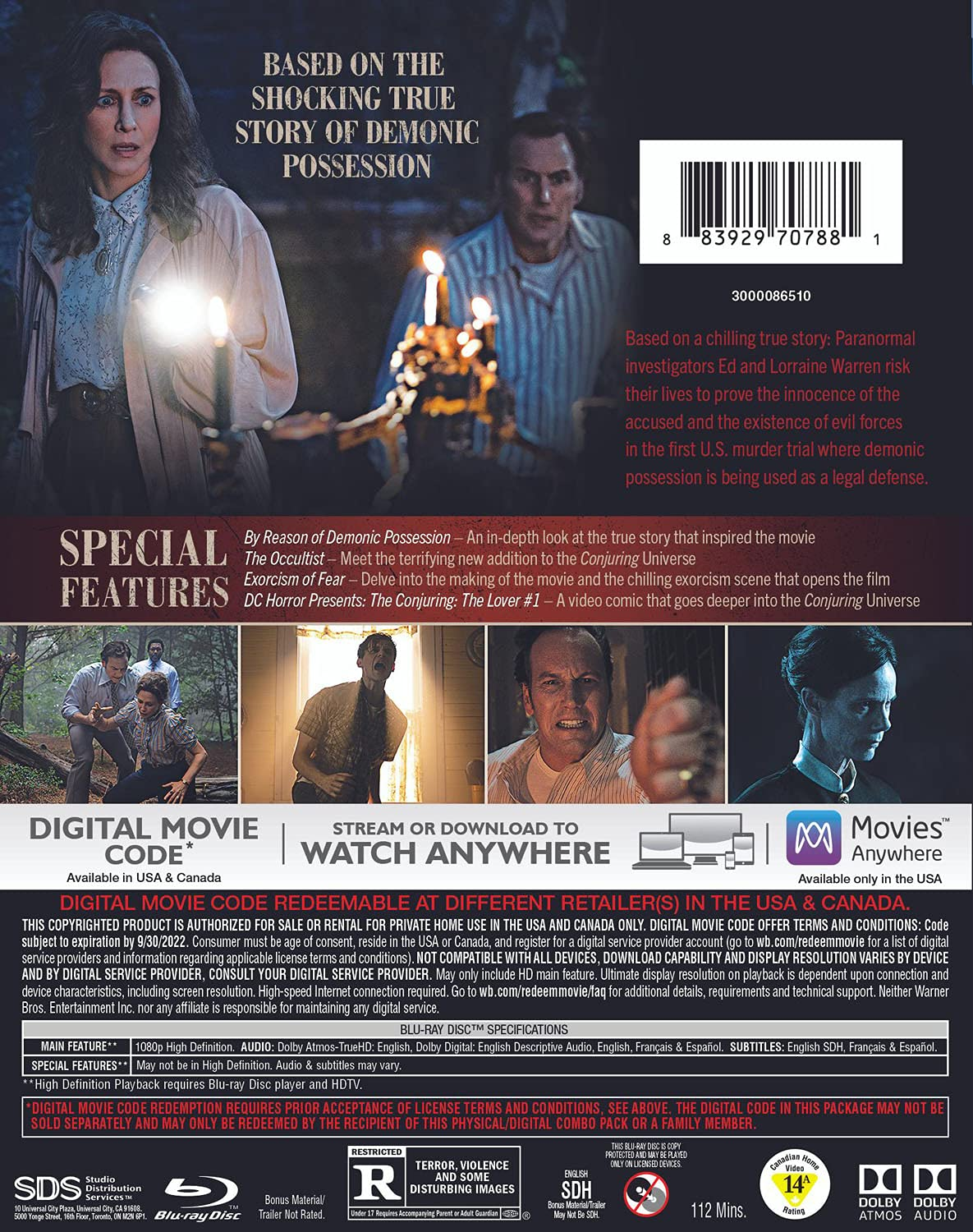 The Conjuring- The Devil Made Me Do It Blu-ray back