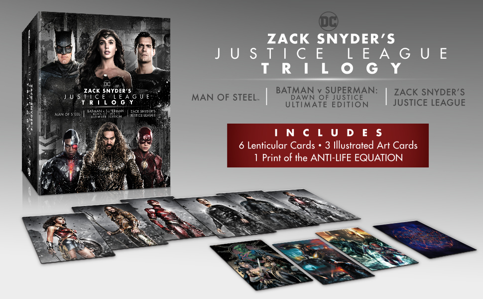 Zack Snyders Justice League Trilogy 4k Blu-ray contents