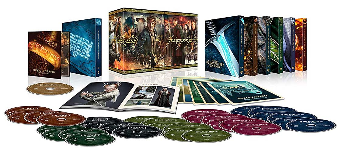 Middle Earth 6-Film Ultimate Collector's Edition 4k Blu-ray contents