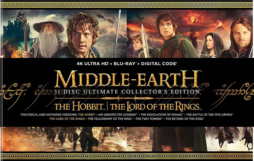 Middle Earth 6-Film Ultimate Collector's Edition 4k Blu-ray front 1080px