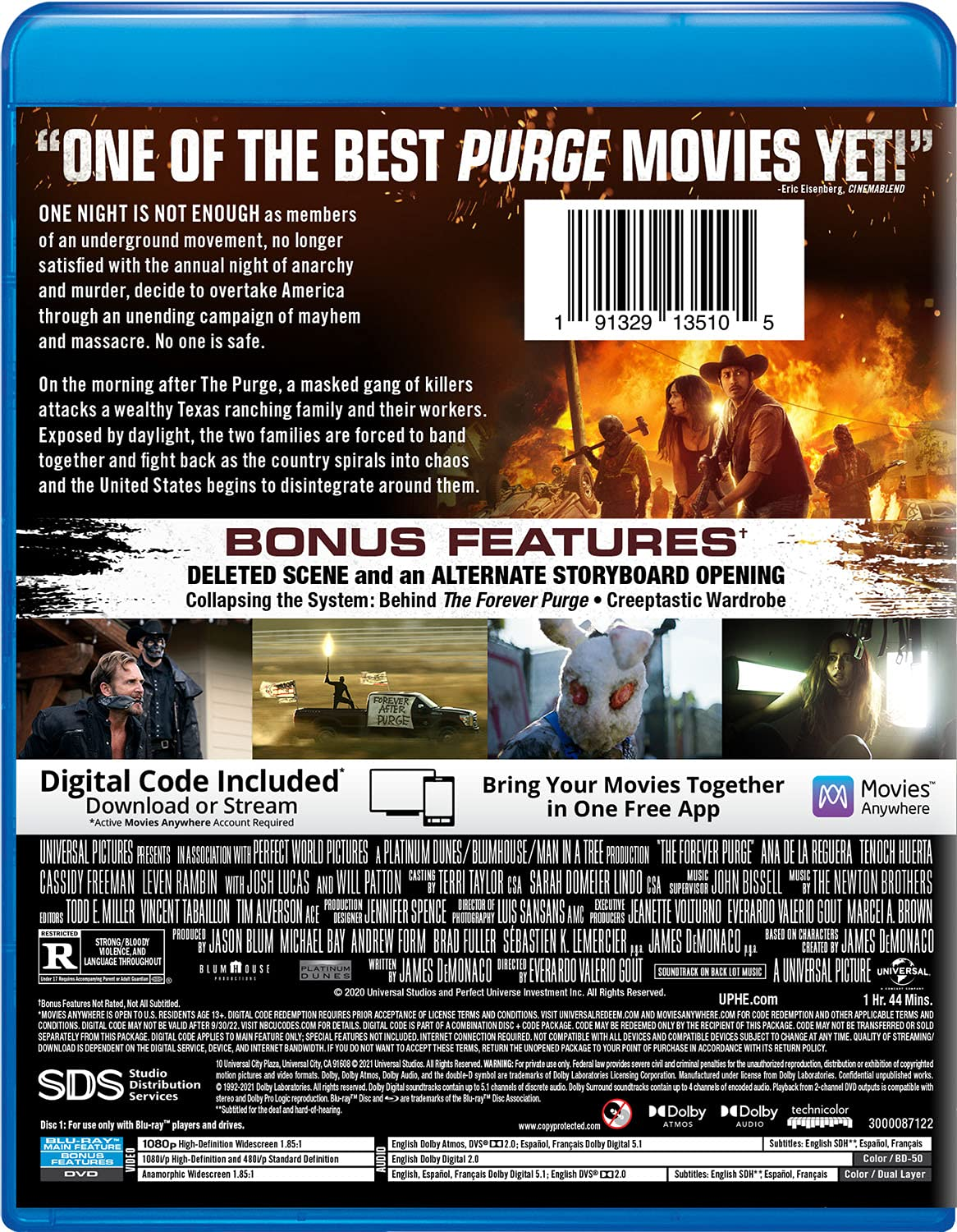 The Forever Purge Blu-ray back